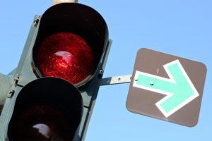 Punkte, wenn Sie eine rote Ampel überfahren gibt es in jeden Fall.